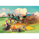 Playmobil DreamWorks Spirit Lucky's Dad and Wagon (9477)