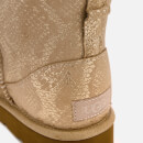 UGG Women's Classic Mini Metallic Snake Sheepskin Boots - Gold