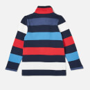 Joules Boys' Dale Half Zip Sweatshirt - Blue Red Stripe