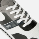 BOSS Men's Parkour Mesh Running Style Trainers - Open Grey