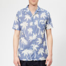 Officine Générale Men's Dario Palm Print Shirt - Indigo/White