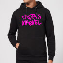 Captain Marvel Spray Text Hoodie - Black