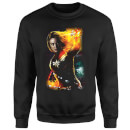 Captain Marvel Galactic Shine Sweatshirt - Black