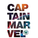 Captain Marvel Space Text Sweatshirt - White