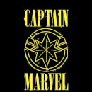 Captain Marvel Grunge Logo Sweatshirt - Black