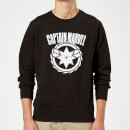 Captain Marvel Logo Sweatshirt - Black