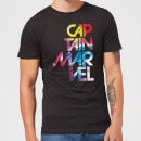 Captain Marvel Galactic Text Men's T-Shirt - Black