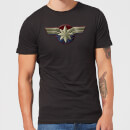 Captain Marvel Chest Emblem Men's T-Shirt - Black