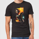 Captain Marvel Galactic Shine Men's T-Shirt - Black