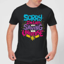 Captain Marvel Sorry I'm Late Men's T-Shirt - Black