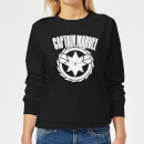 Captain Marvel Logo Women's Sweatshirt - Black