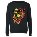 Captain Marvel Tartan Patch Women's Sweatshirt - Black
