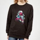 Captain Marvel Neon Warrior Women's Sweatshirt - Black