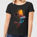 Captain Marvel Nebula Flight Women's T-Shirt - Black