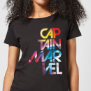 Captain Marvel Galactic Text Women's T-Shirt - Black