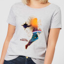 Captain Marvel Nebula Flight Women's T-Shirt - Grey