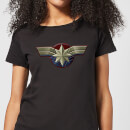 Captain Marvel Chest Emblem Women's T-Shirt - Black