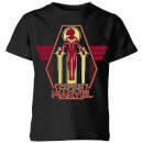 Captain Marvel Flying Warrior Kids' T-Shirt - Black