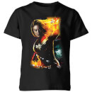 Captain Marvel Galactic Shine Kids' T-Shirt - Black