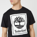 Timberland Men's Stack Logo T-Shirt - Black