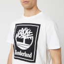 Timberland Men's Stack Logo T-Shirt - White