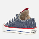 Converse Toddlers' Chuck Taylor All Star Ox Trainers - Navy/Enamel Red/Blue