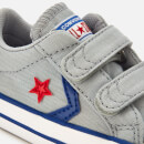 Converse Toddlers' Star Player 2 Velcro Ox Trainers - Wolf Grey/Blue/Enamel Red
