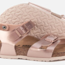Birkenstock Kids' Rio Slim Fit Double Strap Sandals Electric Metallic Copper