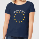 B*llocks To Brexit Women's T-Shirt - Navy