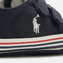 Polo Ralph Lauren Babies' Edgewood Ez Canvas Velcro Trainers - Navy/White PP