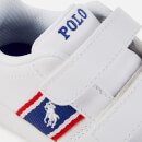 Polo Ralph Lauren Toddlers' Quigley Ez Velcro Trainers - White/Royal Red/White PP