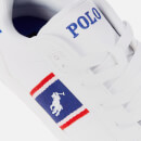Polo Ralph Lauren Kids' Quigley Low Top Trainers - White/Royal Red/White PP