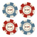 Poker Chips Coaster Set