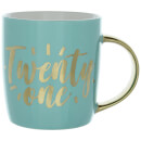 Candlelight Twenty One Birthday Mug in Gift Box