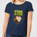 Looney Tunes Stud Taz Women's T-Shirt - Navy