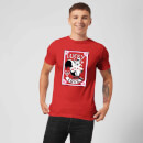 Looney Tunes Lucky In Love Pepe Le Pew Men's T-Shirt - Red