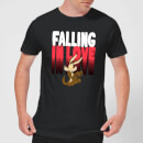 Looney Tunes Falling In Love Wile E. Coyote Men's T-Shirt - Black