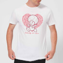 Super Mario Toadally In Love Men's T-Shirt - White