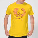 Super Mario Toadally In Love Men's T-Shirt - Yellow