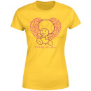 Super Mario Toadally In Love Women's T-Shirt - Yellow