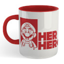 Super Mario Her Hero Mug - White/Red