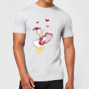 Disney Donald Duck Love Heart Men's T-Shirt - Grey