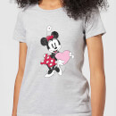 Disney Minnie Mouse Love Heart Women's T-Shirt - Grey