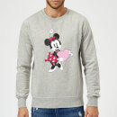 Disney Minnie Mouse Love Heart Sweatshirt - Grey