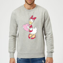Disney Daisy Duck Love Heart Sweatshirt - Grey