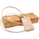 Kreafunk cCHAIN Leather Keyhanger and Charging Cable - Nude