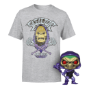 Bundle Funko Pop! Esclusivo Metallico Skeletor e Maglietta Master of the Universe