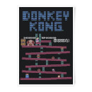 Nintendo Donkey Kong Retro Level Art Print