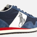 Polo Ralph Lauren Men's Train 90 PP Runner Style Trainers - Newport Navy/White