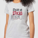 The Flintstones Stacks On Stacks Women's T-Shirt - Grey